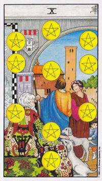 Ten of Pentacles Tarot Cards