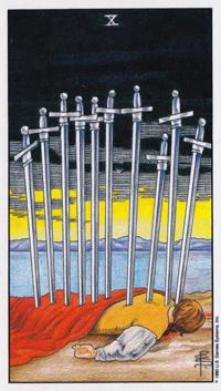 Сочетание карт таро двойка мечей