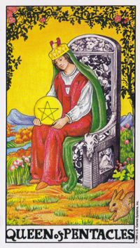 Queen of Pentacles Tarot Cards