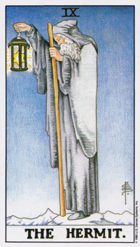 Hermit Tarot Card